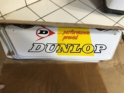 8 Signs New Old Stock Vintage Dunlop Motorcycle Tire Stand Display Original Box