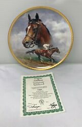 1996 Fred Stone Plate Cigar Horse Racing American Artists Collector 10.25 2613