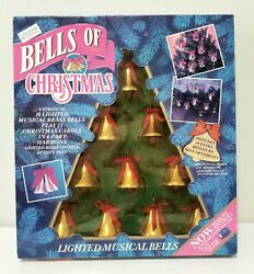 1992 Mr Christmas Bells Of Christmas - 10 Lighted Musical Bells - Plays 21 Songs