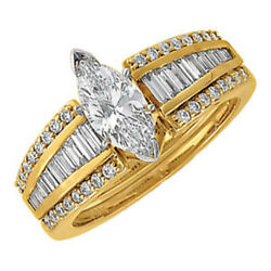 14k Real Gold .75ct Diamond Round Solitaire Ring Guard Wrap Enhancer