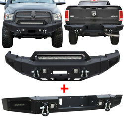Vijay Dodge Ram 2500/3500 Front And Rear Bumper For 2010-2018 W/winch Plate