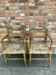 Highly Sought After Hitchcock Pair Of Chairs, Rare Collectible Hitchcock Chairs