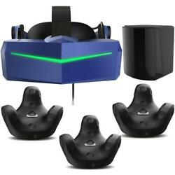 Pimax Vision 8k X Vr Headset With 3x Htc Vive Tracker 3.0, Base Station 2.0