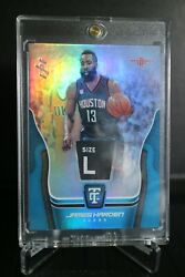 James Harden 2017-2018 Totally Certified Holo Blue 1 Of 1 Laundry Tag 1/1 Mvp