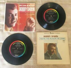 Bobby Darin Capitol Records Compact Jukebox Ep 33 Rpm. 2 Mini Lp's, Used