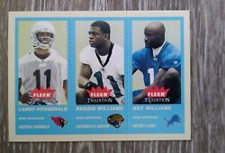 2004 Larry Fitzgerald Fleer Tradition Blue Rookie