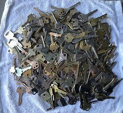Lot Of Misc. Used Cut Brass Keys 2 Lbs Pounds