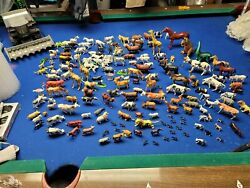 Huge Lot Of Plastic Animals Farm, Zoo, Wild, Pets, You Name It It Is Here