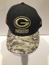 Men's Xl 59fifty Green Bay Packers Camouflage Baseball Cap Cancer Awareness