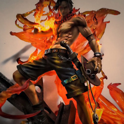 Anime Model 35cm One Piece Portgas D.ace Anime Action Figure Collecting Toy Gift