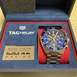 Tag Heuer Wristwatch Men Aston Martin Red Bull Special Edition W/box, Case