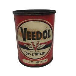 Vintage Tidewater Oil Company Veedol Oil And Greases 1lb Metal Flying A Can