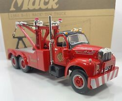 """First Gear 1/34 Scale 1960 B-61 Mack Tow Truck """"chicago Fire Dept. Version"""""""