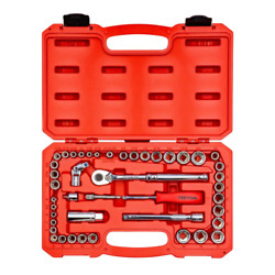 3/16 To 3/4 1/4 3/8 Drive 6-point Socket Ratchet Set 45-piece 5 To 19 Mm