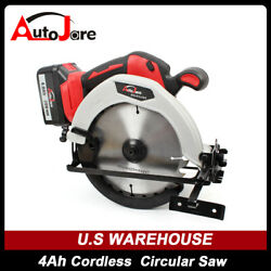 20v Wood Cutting Mini Circular Saw + 4.0ah Battery And Charger And 7 1/4 In Blade