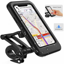 Waterproof Bike Phone Holder Mount For Motorcycle/cycling Handlebar Touch Screen