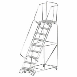 Ballymore Rolling Ladder Capacity 450 Lb Height 123 In Stainless Steel