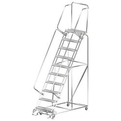 Ballymore Rolling Ladder Capacity 450 Lb Height 133 In Stainless Steel