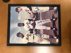 Mets 1969 Ws Signed Photo 11x14 Cleon Jones Ron Swoboda And Tommie Agee Jsa