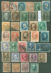 Us Used 19th Century Small Stamp Collection, Includes Scott 91, More Scv 1975