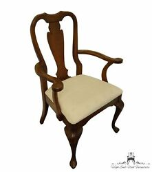 Cresent Furniture Solid Cherry Traditional Queen Anne Style Dining Arm Chair