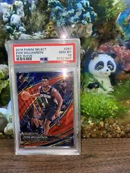 2019 Panini Select Courtside Red Wave Zion Williamson Rookie Rc 297 Psa 10 Gem