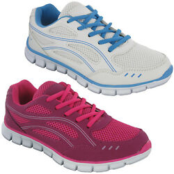 Womens Cushioned Walking Trainers Mesh Summer Lightweight Padded Soft Shoes