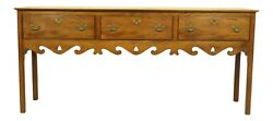 51897ec Wright Table Co Yew Wood 3 Drawer Sideboard