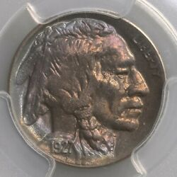 1927-d Buffalo 5c Pcgs Cac Certified Ms64 Colorfully Toned Premium Quality Coin
