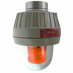 Federal Signal 27xl-120-240a-mod Explosion-proof Led Warning Light, Amber Lens
