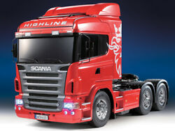 Tamiya Semi Truck Scania R620 6x4 Highline 1/14 Built And Painted Red