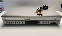 Jvc Hr-xvc17su Dvd Vhs Vcr Combo Player + Av Cables. Tested And Working Great