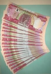 One Million 40 X 25000 Iraqi Dinar Bills Iqd Banknotes Keyhole 1-2 Day Delivery