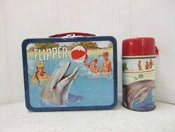 Flipper King Seeley Metal Lunch Box And Thermos 1966 Vintage