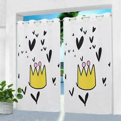 Hgmart 58andrdquox120andrdquo Crown Print Uv Outdoor Curtain Panel With For Porch Patio2 Pack