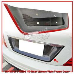 08-13 Fit For Mercedes Benz C W204 4d License Plate Frame Cover Carbon+red Line