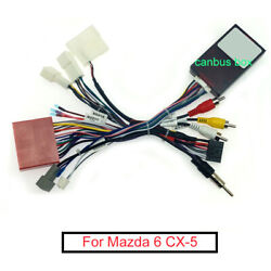 Car 16 Pin Audio Wiring Harness Canbus Box For Mazda 6 Cx-5 Stereo Wire Adapter