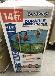 🔥✅bestwayandreg Steel Pro Maxandtrade 14and039 X 48 Above Ground Pool Set. Free Shipping 🔥✅