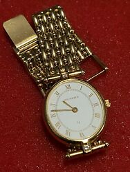Vintage Solid 18k Diamond Bucherer Womens Gold Watch With Extenders 42.1g