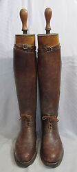 Vintage Maxwell Brown Leather Equestrian Polo Riding Mens Bootsandtrees London