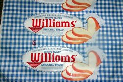 Vintage Wonder Bread Williams Bread Country Style Bag Wrapper Huge Roll Sign