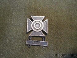 Wwii Us Army Soldiers Marksman Badge Sharpshooter Rifle - Sterling Pin Back