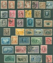 Us Small Lot Of Used 19th Century Stamps On 2 Pages + 1 114 Cover, Scv 1725