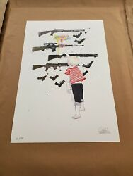 Lora Zombie Choose Your Weapon Poster Print S/n Mint Embossed Coa 2014