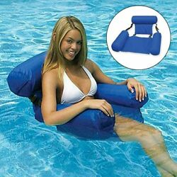 Swimming Floating Chair Pool Seats Inflatable Lazy Water Bed Lounge Chairs UE