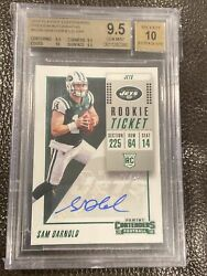 2018 Playoff Contenders Preview Auto Sam Darnold Rookie Ticket 4/24 Bgs 9.5/10
