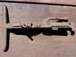 Vintage Cast Iron Hand Saw Sharpening Vise 9 Long Jaws Number 4 Free Shipping