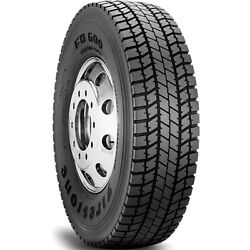 4 New Firestone Fd600 315/80r22.5 Load J 18 Ply Drive Commercial Tires
