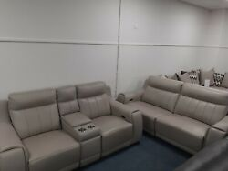 New York Power Reclining 3 Seater And 2 Seater With Centre Console