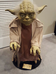 Star Wars The Phantom Menace Life Size Yoda Statue Illusive Concepts Pickup Only